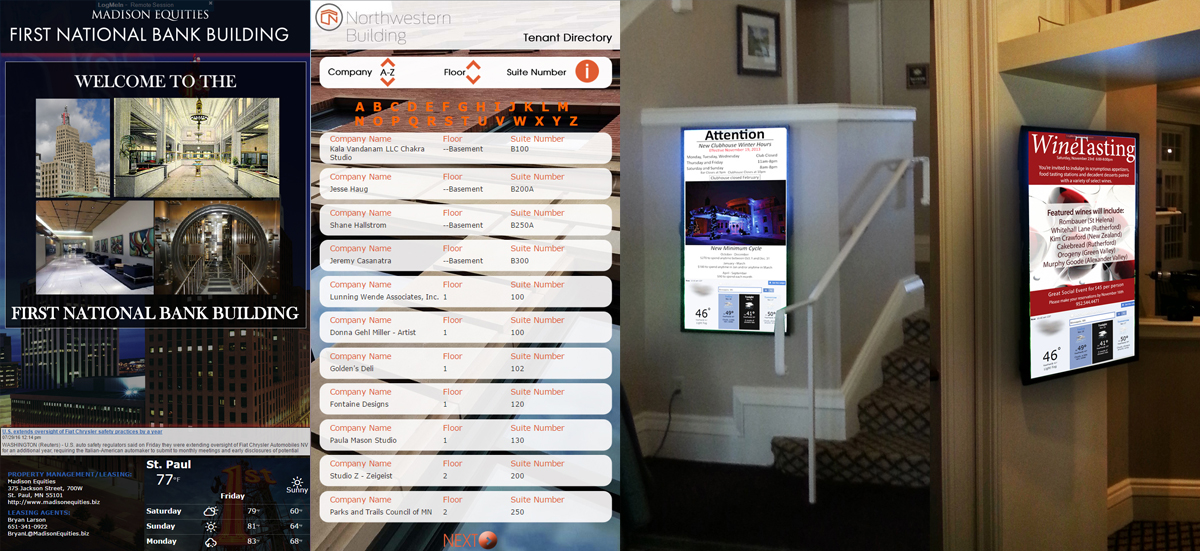 touch screen building directory